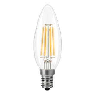 LED Filament straight Candle Clear Light 5W E14
